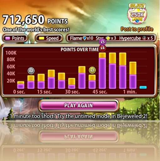 One of the world's best scores at Bejewelled - Peter Scargill