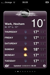 Weather in Wark