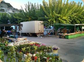 The market in Galera, Spain