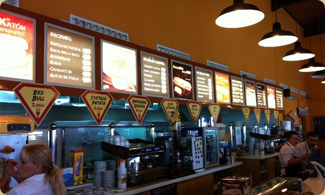 Motorway café in Spain