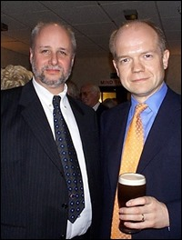 Peter Scargill with William Hague