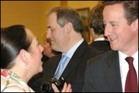 David Cameron talking to Maureen