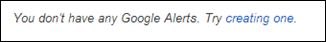 Dumb Google Alerts warning