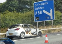 Accident on the M6