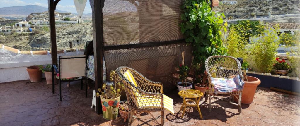 Pergola area at our home in Galera
